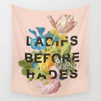 mythology Wall Tapestries featuring Ladies Before Hades by Heather Landis