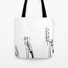 The Guitars (Black and White) Tote Bag