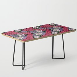 Chevron Floral Black Coffee Table