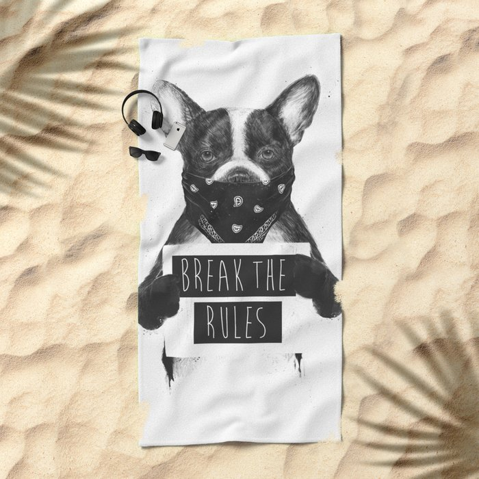 Rebel dog Beach Towel