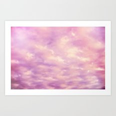 Dreamy Pink & Purple Abstract Art Print