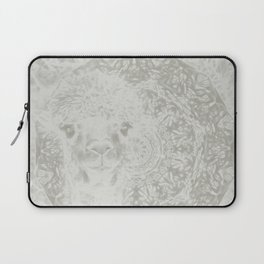 Ghostly alpaca and mandala Laptop Sleeve