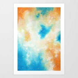Orange Blossom Galaxy Art Print
