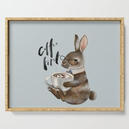 Coffee First Bunny Serving Tray