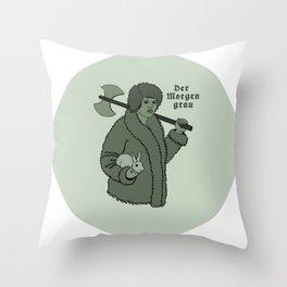 Der Morgen Grau Throw Pillow