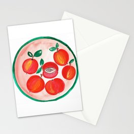 A plate of Red Apples Stationery Cards