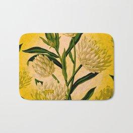 Yellow Floral Bath Mat