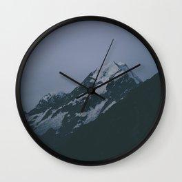 Mt Cook at night Wall Clock