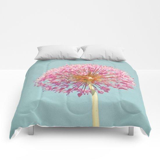 Pink Allium Comforters