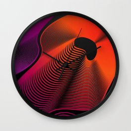 Abstract Moire Wall Clock