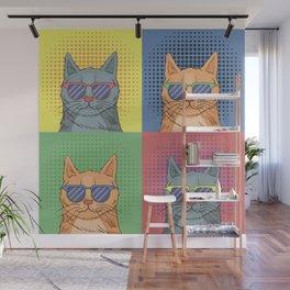 Cats Art Wall Mural