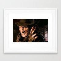 freddy krueger Framed Art Prints featuring Freddy Krueger by Moody Voodies