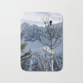 Bird on a tree \\ French Alps Bath Mat