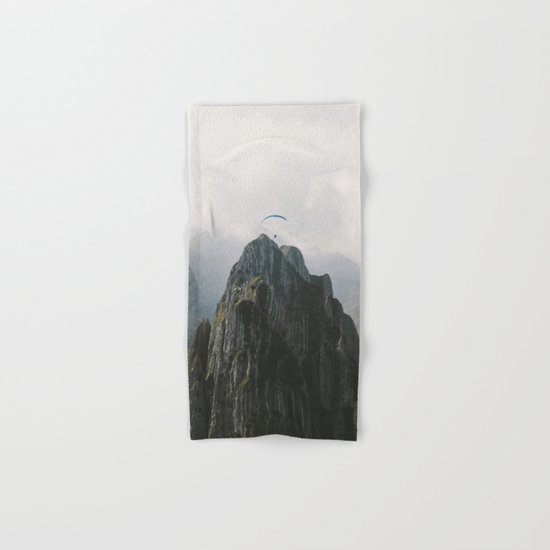 Flying Mountain Explorer - Landscape Photography Hand & Bath Towel