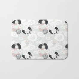 Pretty Poppies Seamless Repeating Pattern Bath Mat