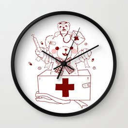 The Adventures of Bear and Baby Bear-Who's hurt? Wall Clock