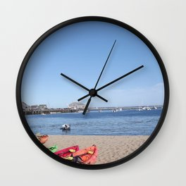 Ptown Boats Wall Clock