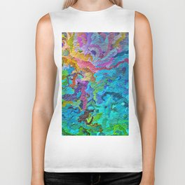355 - Abstract garden design Biker Tank