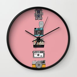Camera Collection (Pink) Wall Clock