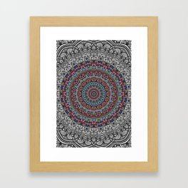 Colorful mandala Sophisticated ornament Framed Art Print