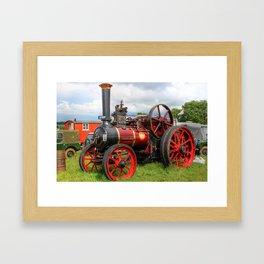 Evedon Lad traction engine Framed Art Print
