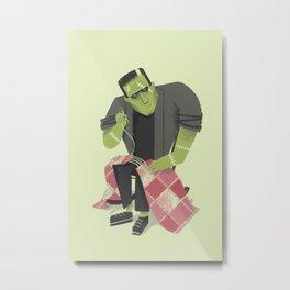 Frankenstein's Stitches Metal Print