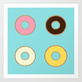 Four Doughnuts Art Print