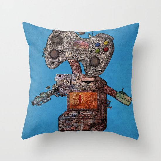 Gamebot Throw Pillow