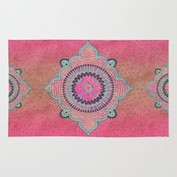 india Area & Throw Rugs featuring India Pink by LebensART