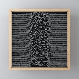 Unknown Radio Waves - Unknown Pleasures Framed Mini Art Print