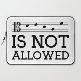Decaf is not allowed (alto version) Laptop Sleeve