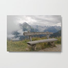 A cloudy day in the Austrian Alps Metal Print