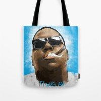 biggie Tote Bags featuring Biggie by K▽nchʁLϟ