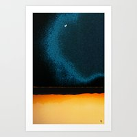 moon phase Art Prints featuring New Moon - Phase II by Marina Kanavaki