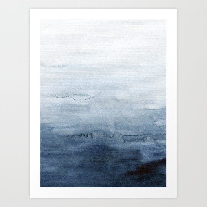 Indigo Abstract Painting | No. 4 Kunstdrucke
