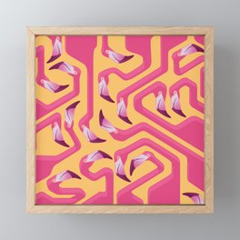 Flamingo Maze Framed Mini Art Print