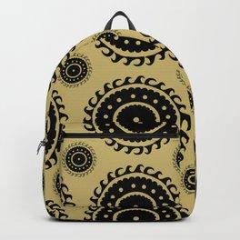 Black and Olive print Backpack