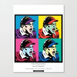 Art Gecko - TCU vs TTU 11/18/17 Canvas Print