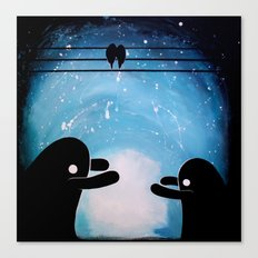 cuddle monsters Canvas Print