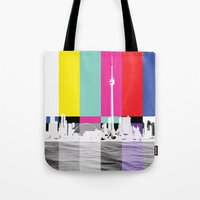 toronto Tote Bags featuring Toronto by Shazia Ahmad