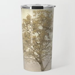 Golden Cream Cotton Field Tree - Landscape Travel Mug