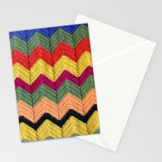 Rainbow Chevron Afghan Stationery Cards