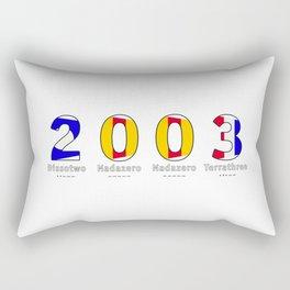 2003 - NAVY - My Year of Birth Rectangular Pillow