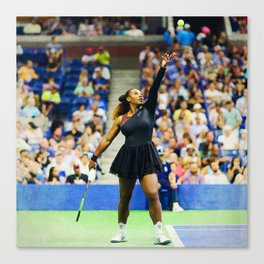 Serena Williams Serving Canvas Print