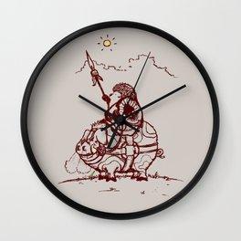 Nature Warriors: Battle Hedgehog Wall Clock