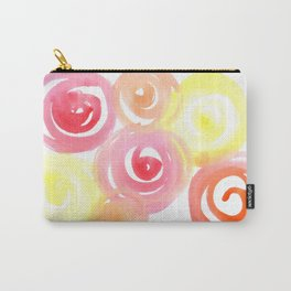 Pink and Peachy Carry-All Pouch