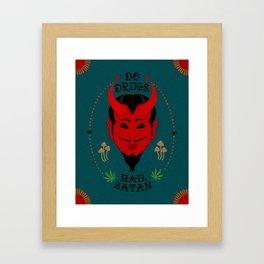 Do Drugs, Hail Satan Framed Art Print