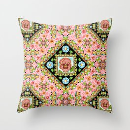 Cottage Pink Pansy Throw Pillow