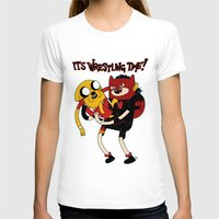 wrestling T-shirts featuring It's Wrestling Time!  by Rad Recorder