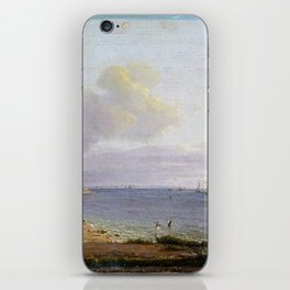 Johan Christian Dahl View over Øresund iPhone Skin